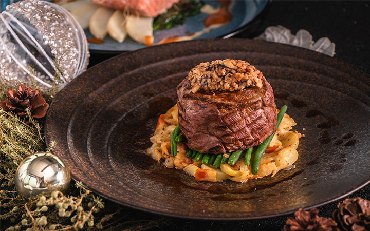 Pan-seared Beef Tenderloin with Potato Mille-feuille